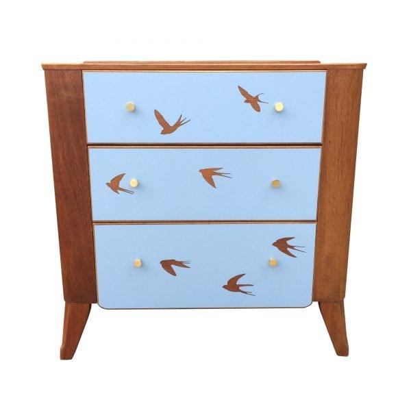 Mid century modern vintage retro chest of drawers
